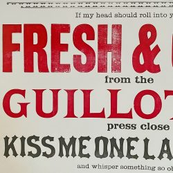 Tilleys Letterpress Head Poster Tinsmiths