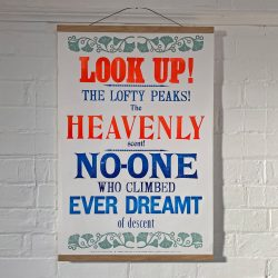 Tilley Letterpress Look Up Poster Tinsmiths