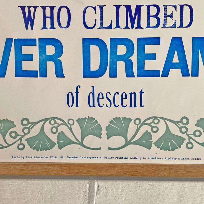Tilley Letterpress Look Up Poster Tinsmiths