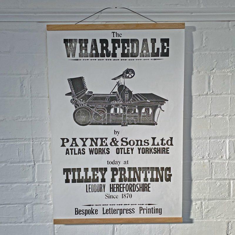 Tilley Letterpress Poster Wharfdale Tinsmiths