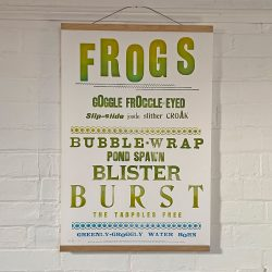 Tilleys Letterpress Frogs Poster Tinsmiths