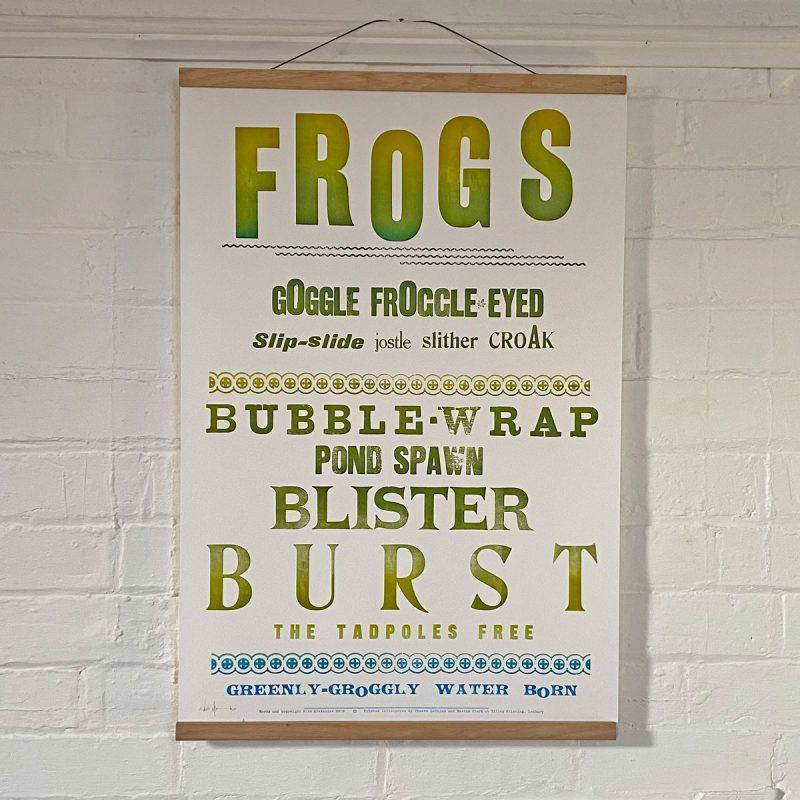 Tilleys Letterpress Frogs Poster Tinsmiths