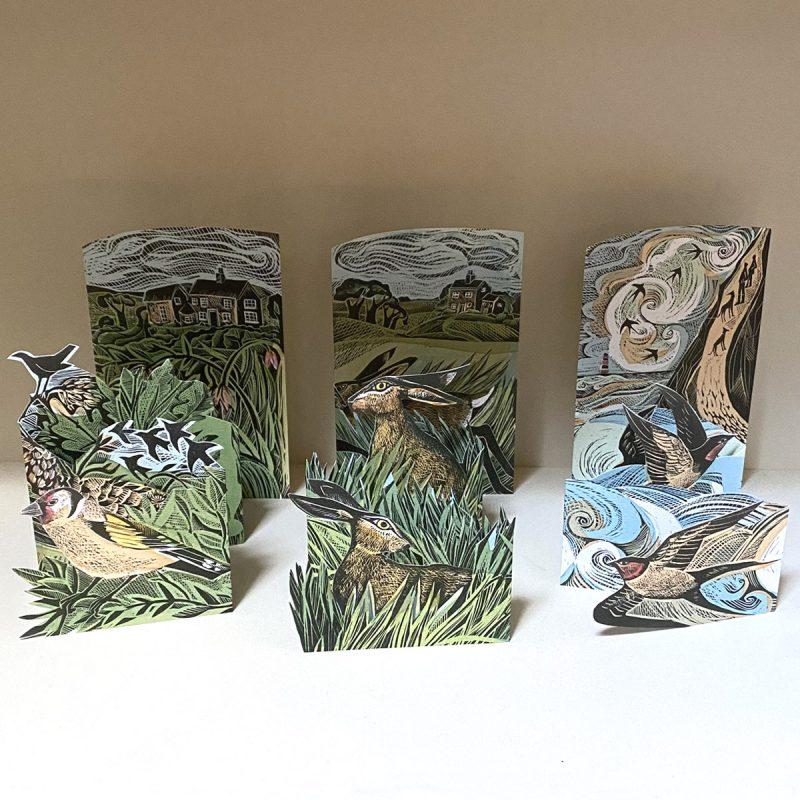 Angela Harding Set of Three Folding Cards AHTFC