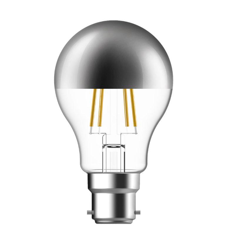 Bayonet  LED Crown Silver Filament Bulb - 51 Watt Equivalent