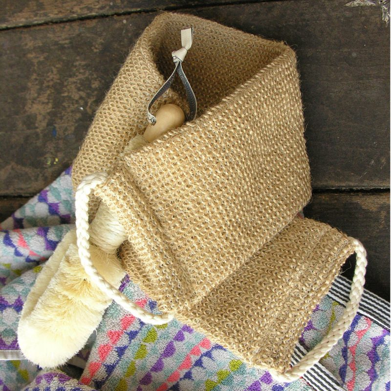 Back Scrub - with cord handles