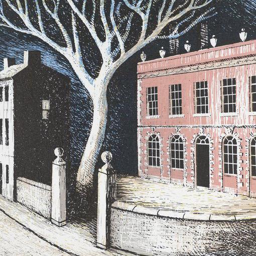 Belmont at Lyme Regis Ed Kluz print detail