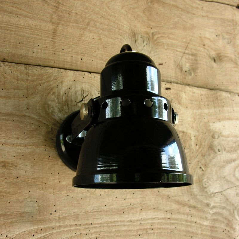Small Black Lathe Lamp