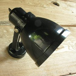 Large Lathe Lamp Black