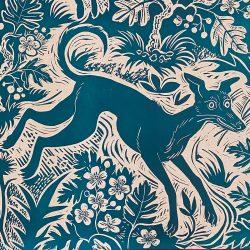 Mark Hearld Papier Dominote - Blue Whippet
