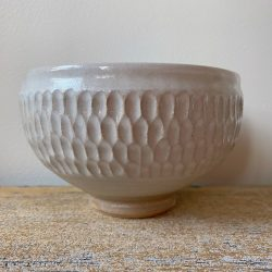 Robyn Cove White Incised Breakfast Bowl