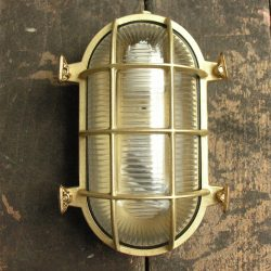 Cast Brass Bulkhead Light - Large