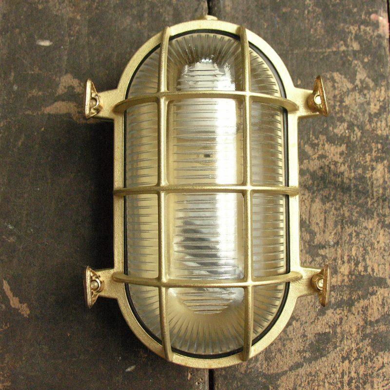 Cast Brass Bulkhead Light - Large