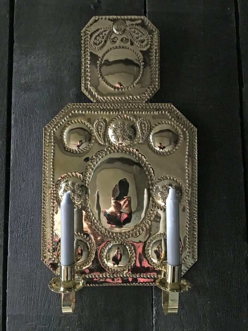 Brass Wall Sconce - Double Candle