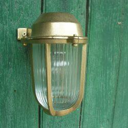 Brass Bulkhead Lantern Small