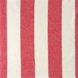 Blanket Stitched Welsh Blanket - Red Stripe