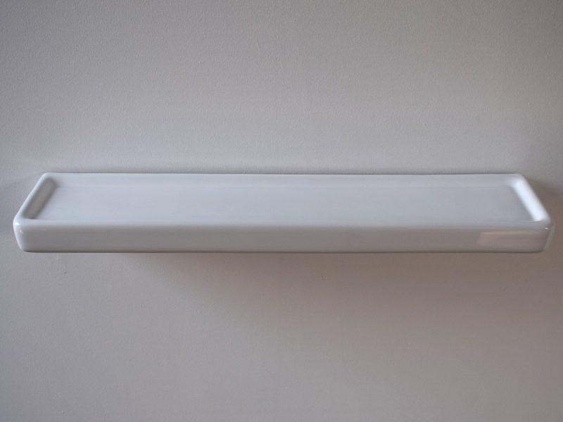 Long Bathroom Shelf White Ceramic