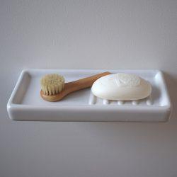Bathroom Shelf White Ceramic