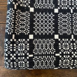 Welsh Blanket or Throw - Charcoal