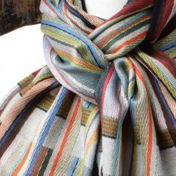 Else Oxford Silk and Lambswool scarf by Wallace and Sewell