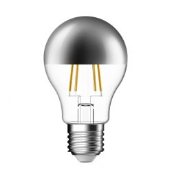 Screw LED Crown Silver Filament Bulb - 51 Watt Equivalent