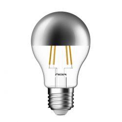 Screw LED Crown Silver Filament Bulb - 51 Watt Equivalent