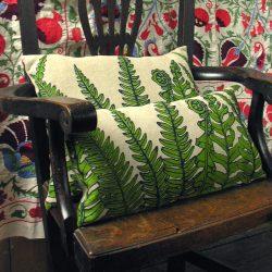 Fern Print Cushion Long