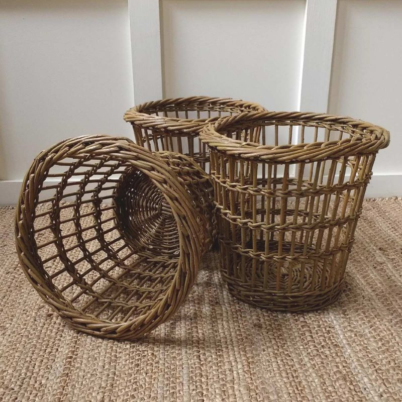 Fitched Willow Waste Paper Basket