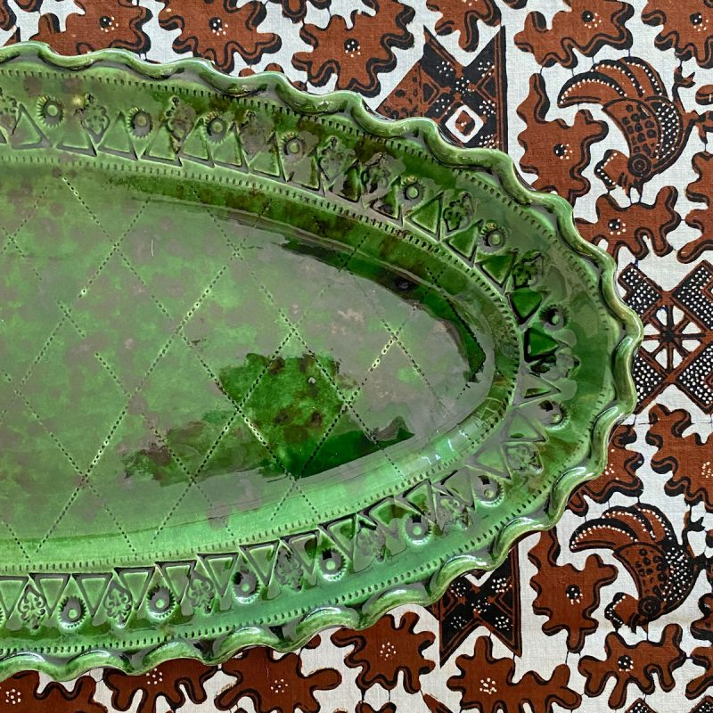 French Country Pottery Fish Dish