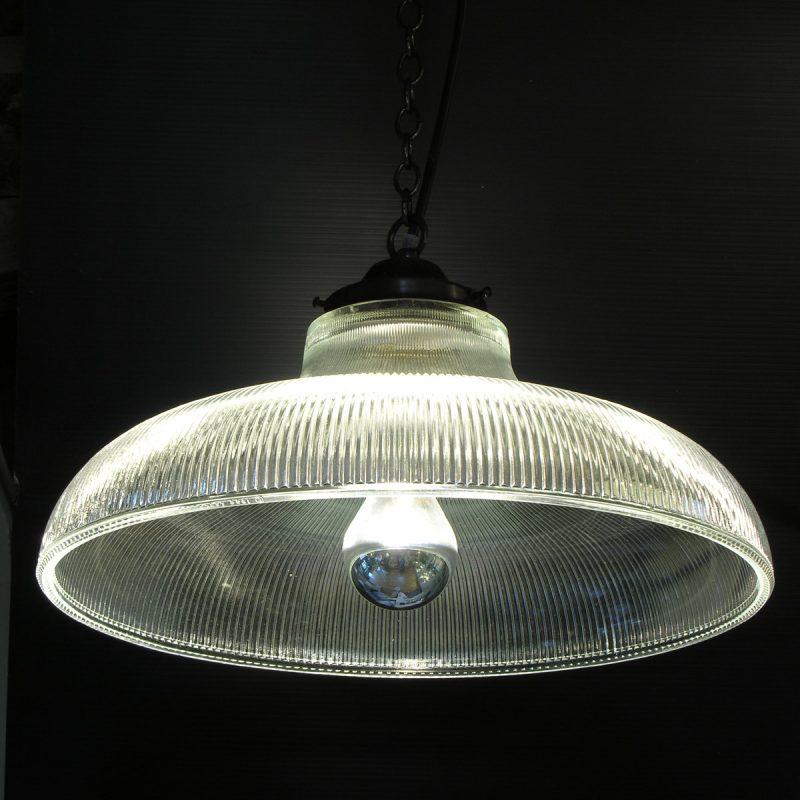 Glass Railroad Pendant Light