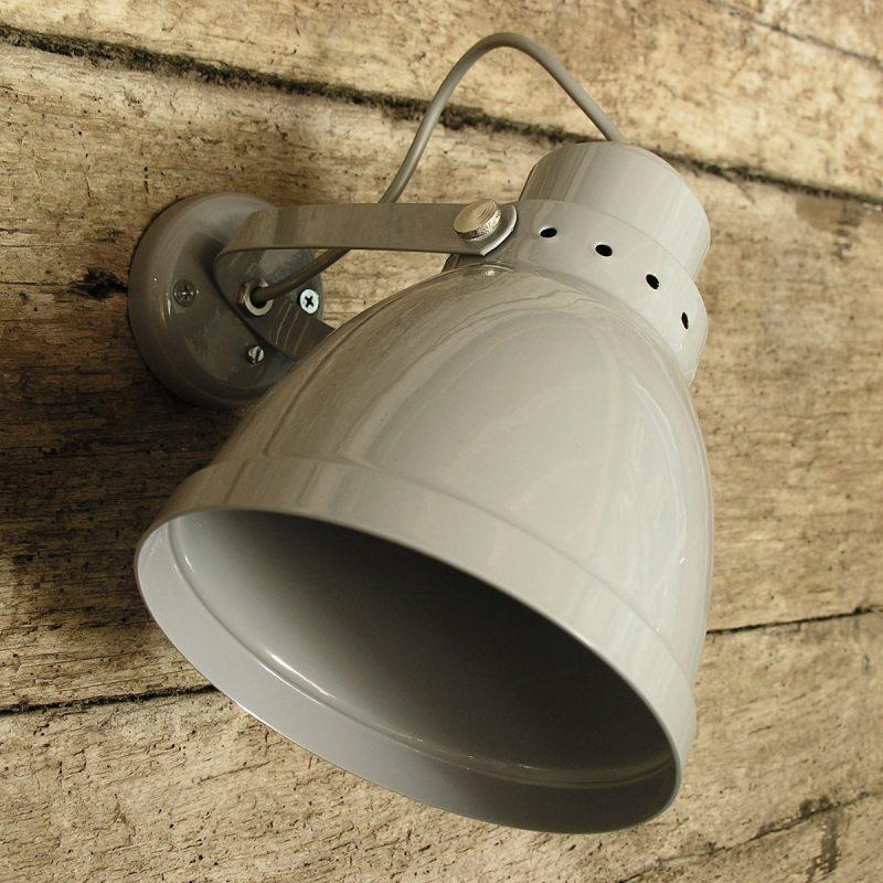 Large Lathe Lamp Grey