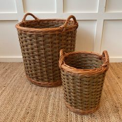 Two Tone Willow Kindling Basket