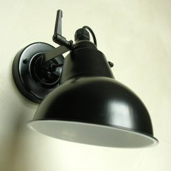 Steel Hood Lamp Black