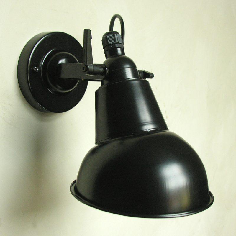 Steel Hood Lamp Black