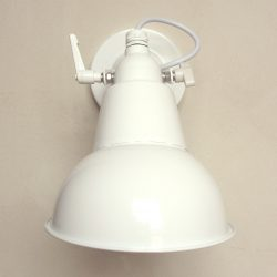 Steel Hood Lamp White