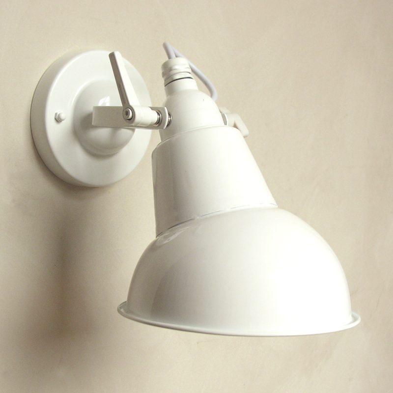 Steel Hood Lamp White