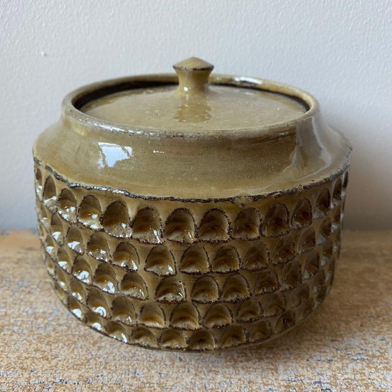 Green Lidded Jar by Robyn Cove