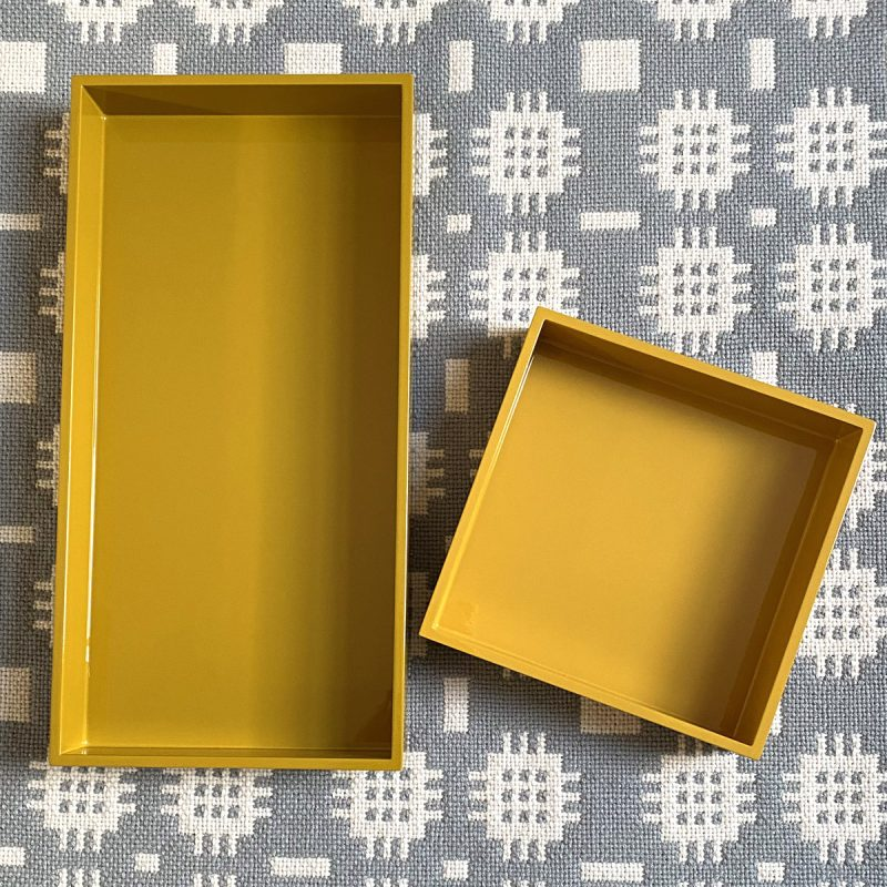 Oblong Lacquer Tray - Curry