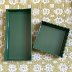 Oblong Lacquer Tray - Forest Green