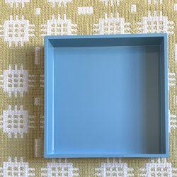 Square Lacquer Tray - Topaz Blue