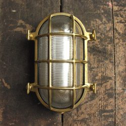 Polished Brass Bulkhead Light - Large