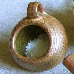 Leach Stoneware Salt Pig