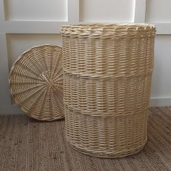 Willow Linen Basket with Lid