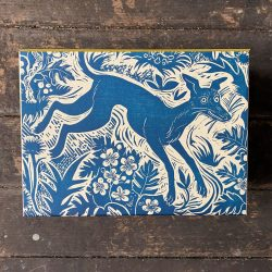 Mark Hearld Blue Whippet Box File
