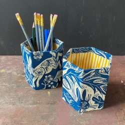 Mark Hearld Blue Whippet Pen Pot