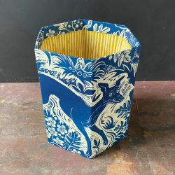 Mark Hearld Blue Whippet Waste Paper Bin