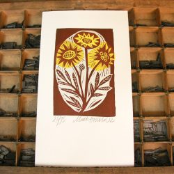Flowers print by Mark Hearld