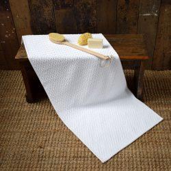 White Cotton Bathmat Extra Large