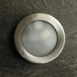 Round Bulkhead Light Diecast Nickel