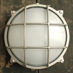 Bulkhead Frosted Large Round Nickel