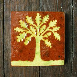 Medieval Style Floor Tile - Oak Tree